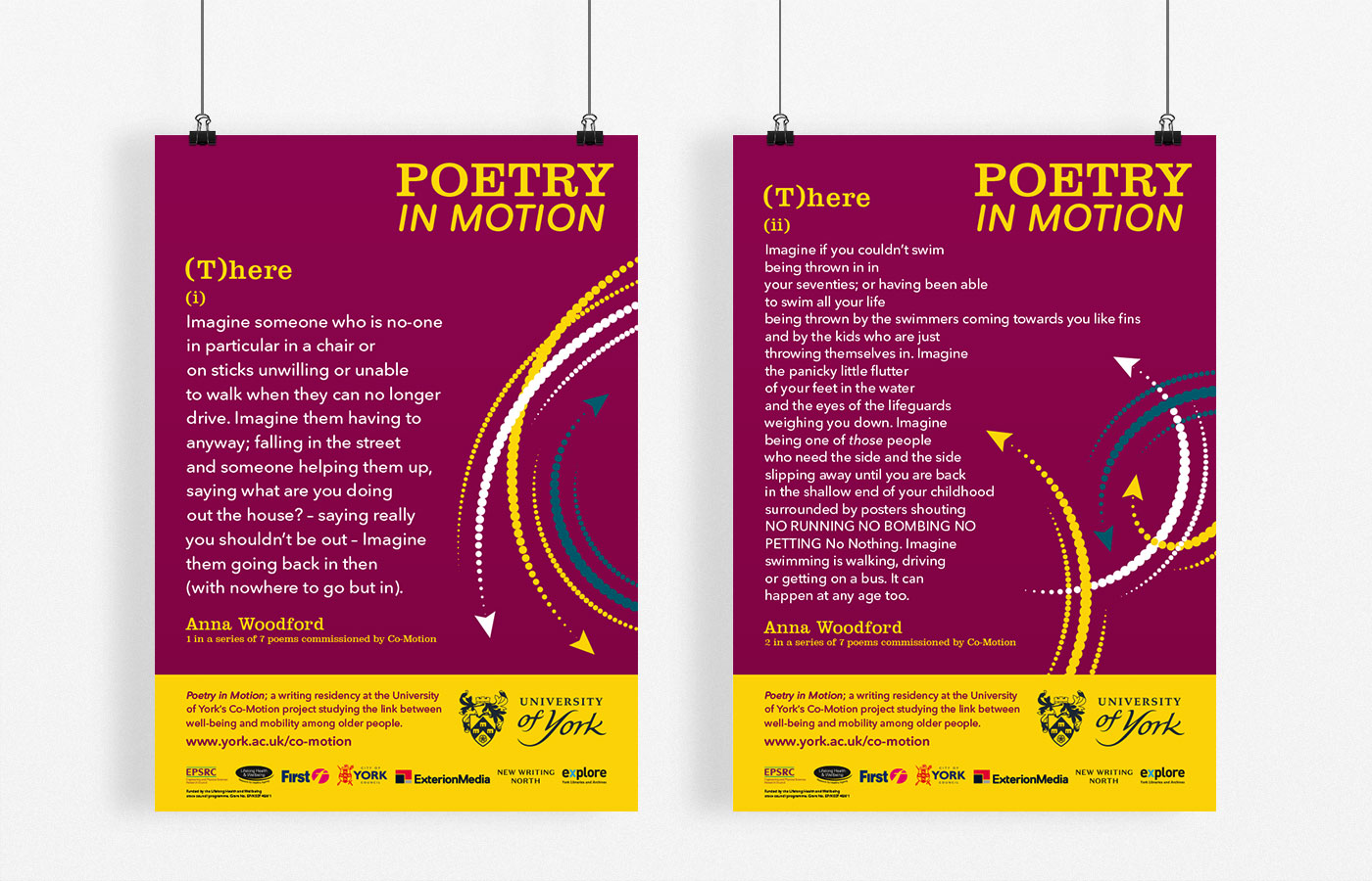 Poetry in Motion poster designs on display